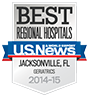 Regionally Ranked as High Performing for Geriatrics by US News and World Report