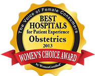 Womens Choice Award 2013: Best Hospitals - Obstetrics badge