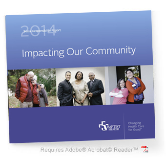 2014 Social responsibility community benefit report cover image
