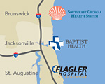 Baptist Health explores regional collaboration map graphic