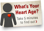 What's your heart age graphic