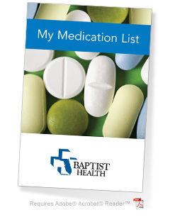 Baptist Health Medication Wallet card image