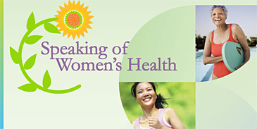 Speaking of women's health graphic