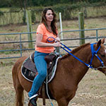Susan's back in the saddle, cancer-free inset photo