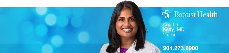 Arpitha Ketty, MD is a Internist for Baptist Health in Jacksonville, FL
