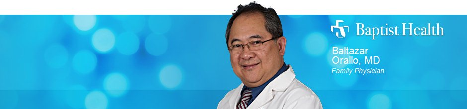 Baltazar Orallo, MD is a Family Physician for Baptist Health in Jacksonville, FL