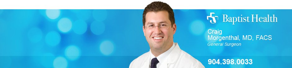 Craig Morgenthal, MD, FACS is a General Surgeon for Baptist Health in Jacksonville, FL