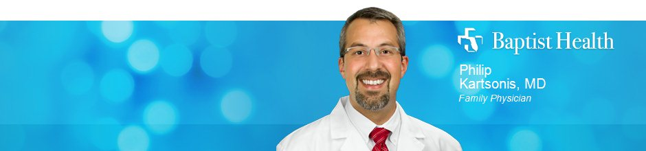 Philip Kartsonis, MD is a Family Physician for Baptist Health in Jacksonville, FL
