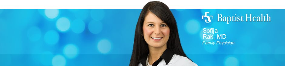 Sofija Rak, MD is a Family Physician for Baptist Health in Jacksonville, FL